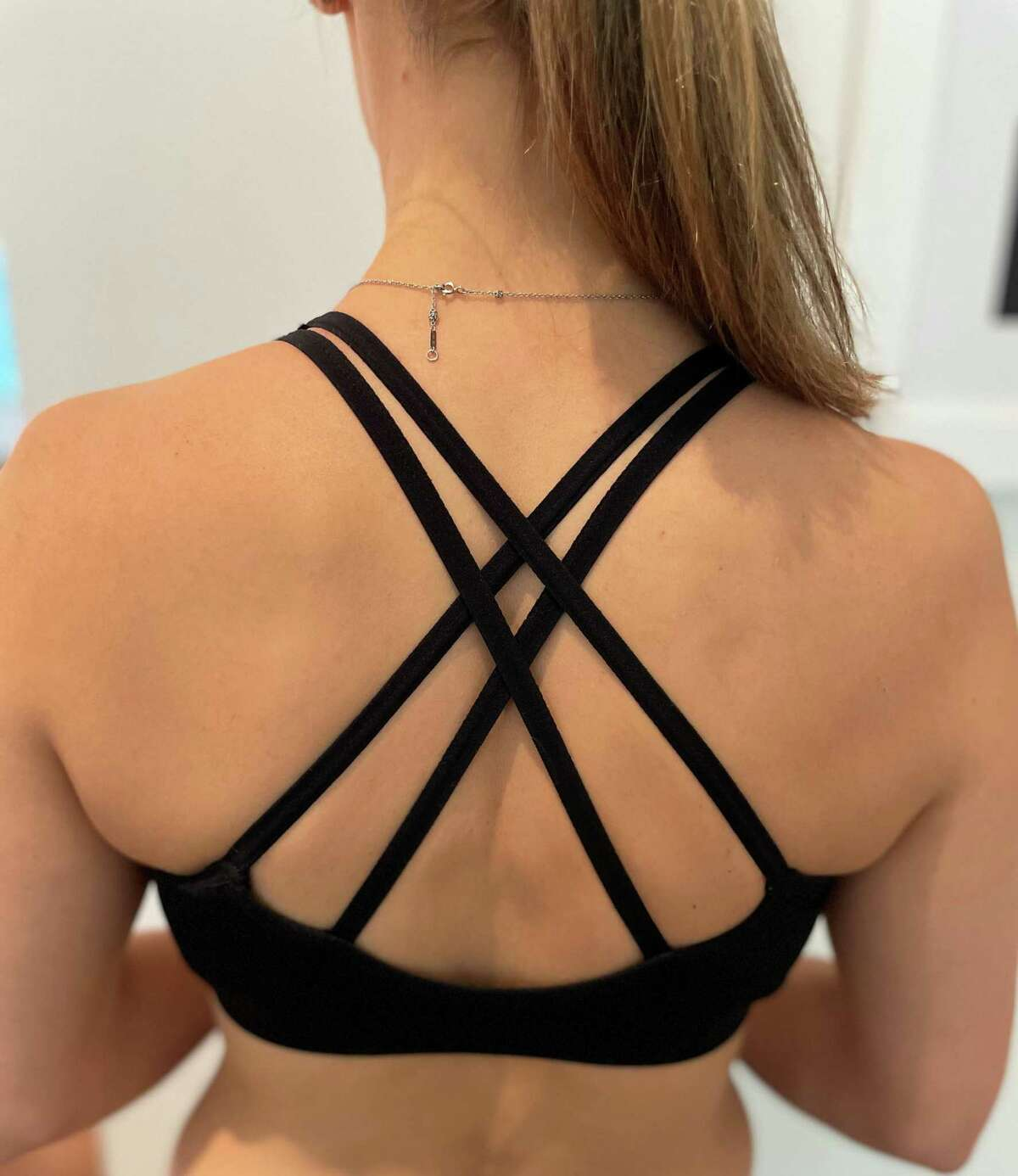 For a simple upper back strengthening exercise, squeeze your shoulder blades together (arms down by your sides).Shown: Neutral position.