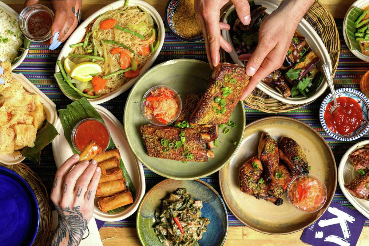 Kawit!'s Filipino food incorporates indigenous tropical ingredients with influences from Spain and China.