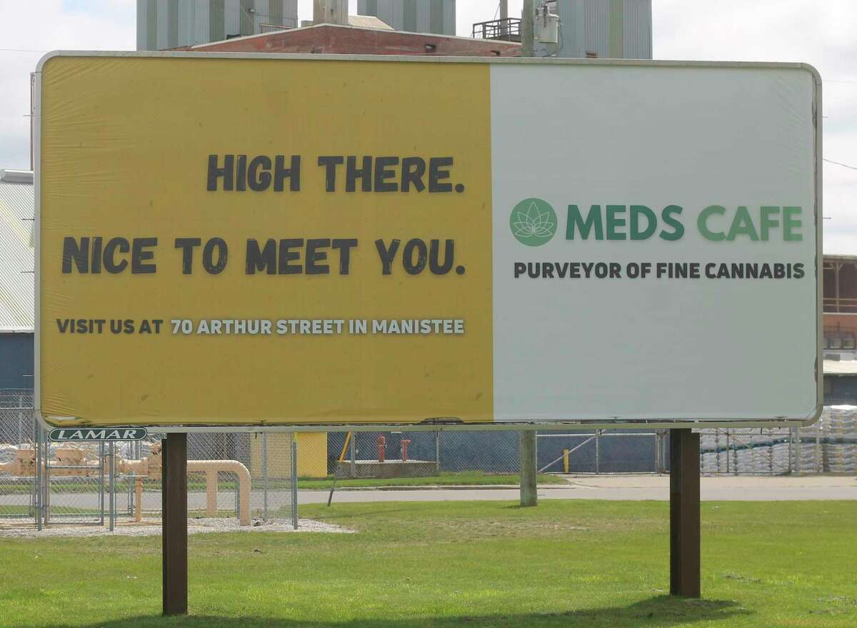 Bills have also been introduced by Reps. Mary Whiteford, R-Casco Township, and Abdullah Hammoud, D-Dearborn, to ban the advertisement of medical and recreational marijuana sales on billboards such as this one. (Kyle Kotecki/News Advocate)