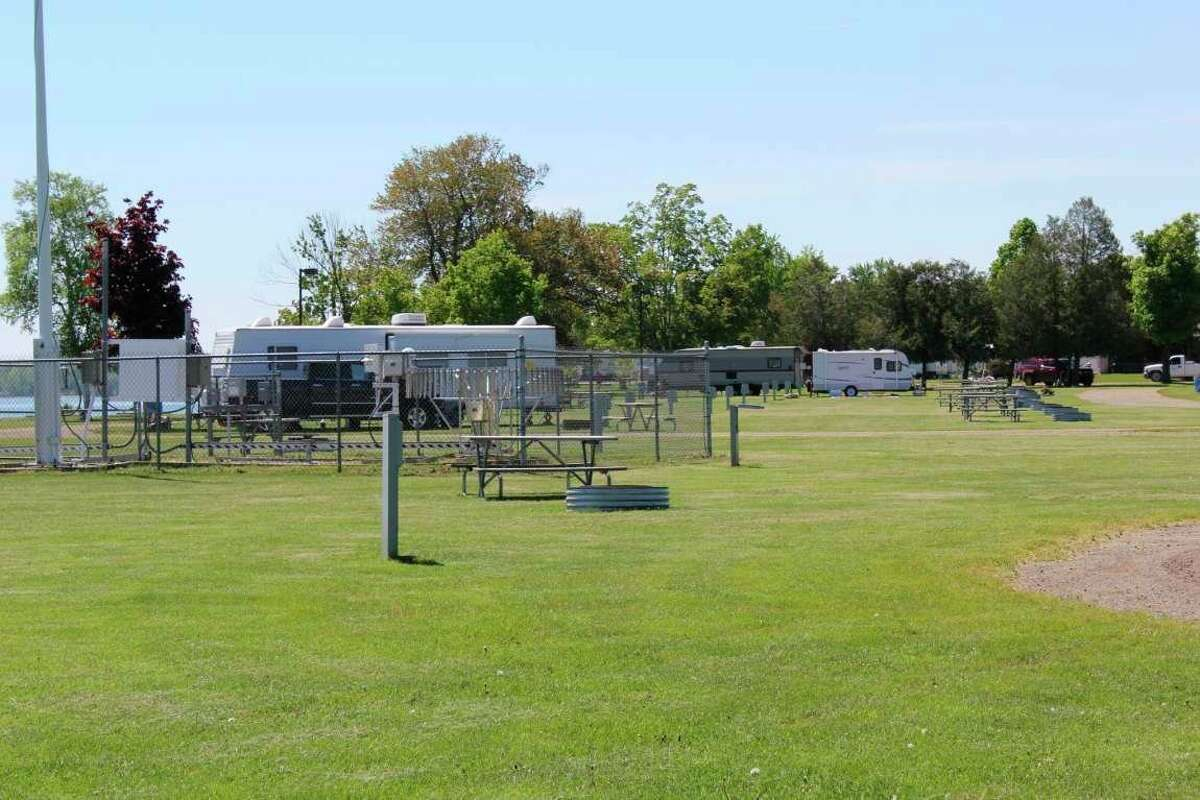Some of the campground sites at Lighthouse County Park at Pointe aux Barques. (Tribune File Photo)
