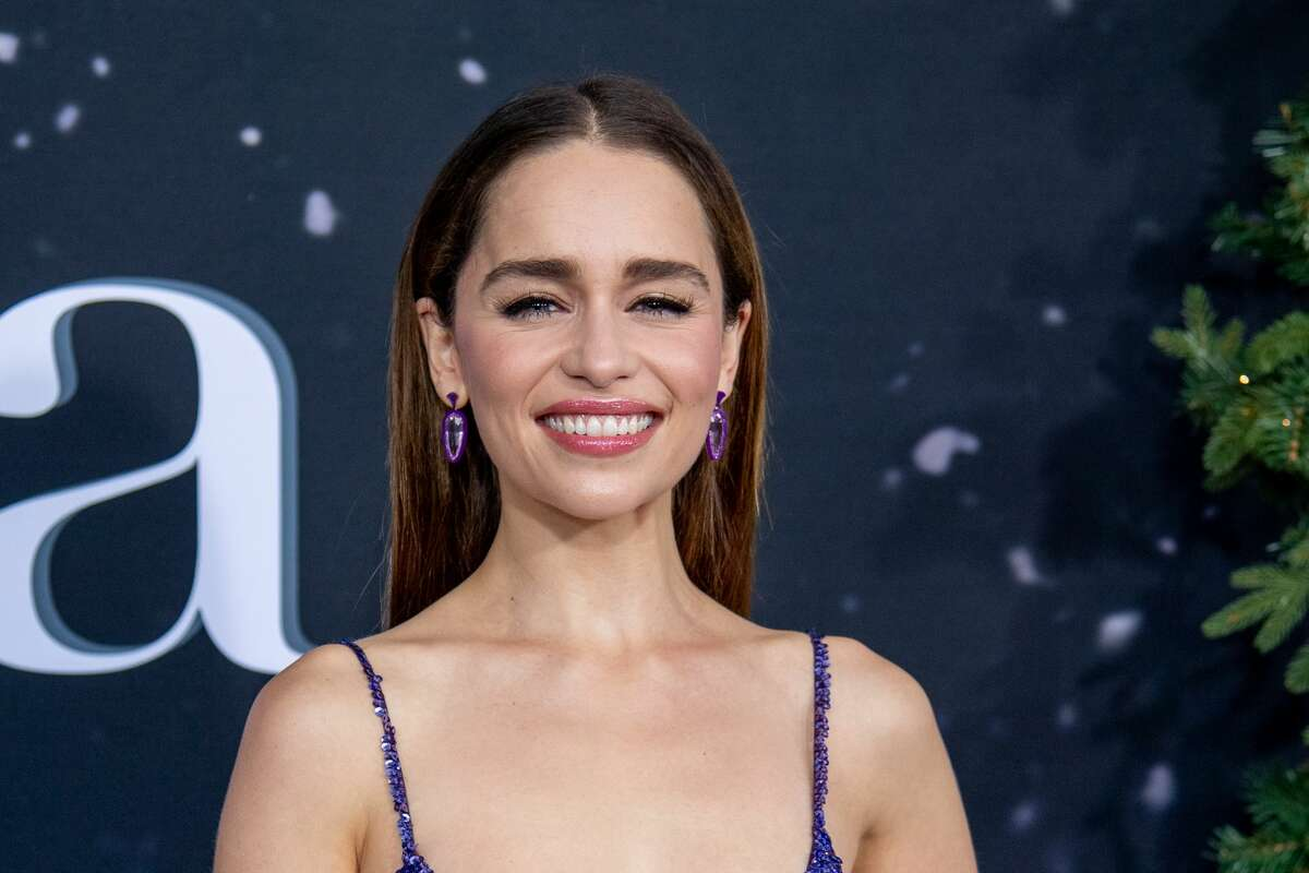 """NEW YORK, NEW YORK - OCTOBER 29: Emilia Clarke attends the """"Last Christmas"""" New York Premiere at AMC Lincoln Square Theater on October 29, 2019 in New York City. (Photo by Roy Rochlin/Getty Images)"""
