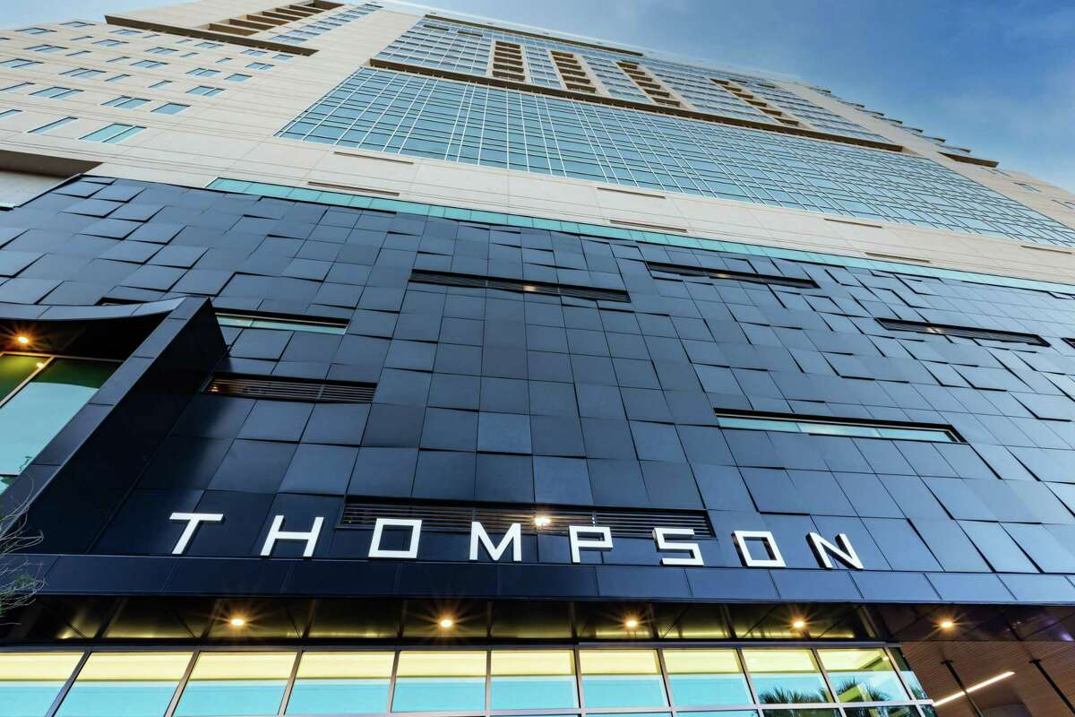 Entrance to Thompson San Antonio, a new 162-room hotel now open in the city's Arts District along the River Walk.