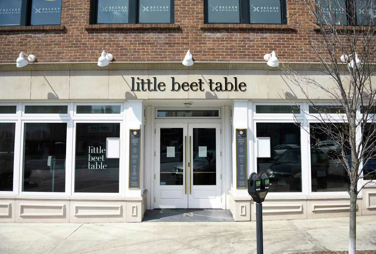 The former site of Little Beet Table, located at 376 Greenwich Ave. in Greenwich, Conn., photographed on Monday, April 19, 2021.