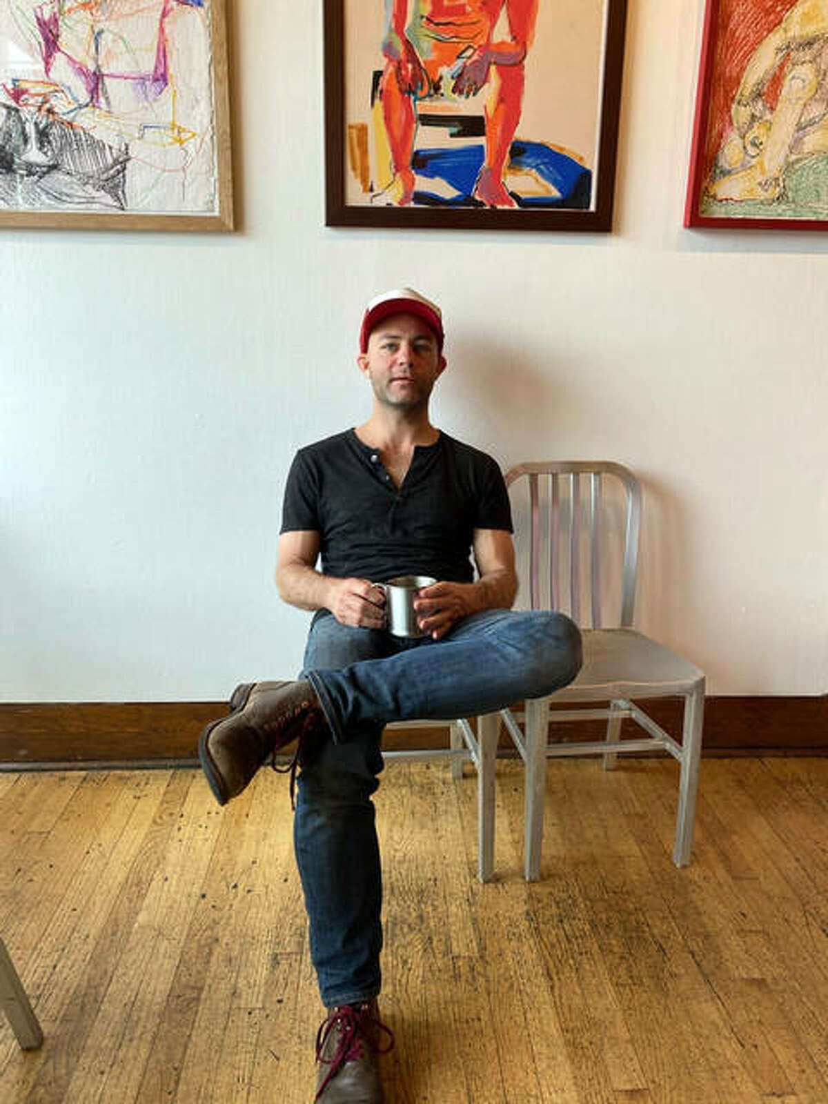 Local artist Chris Conant will have his work on display at Sacred Grounds Cafe through May 30.
