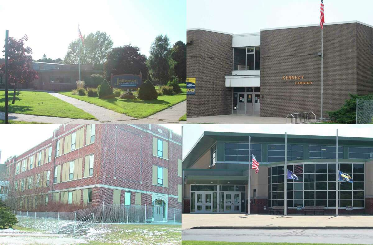 A $30.855 million bond proposal before voters in theManistee Area Public Schools district on May 4. The proposal is for a term of 25 years, and the cost to taxpayers would be 2.62 mills. Including the 2.08 mills for the construction costs of the Manistee Middle/High School building, the total levy would be 4.7 mills. Plans include work at Jefferson Elementary, Kennedy Elementary, MMHS and the old high school building. (File photos)