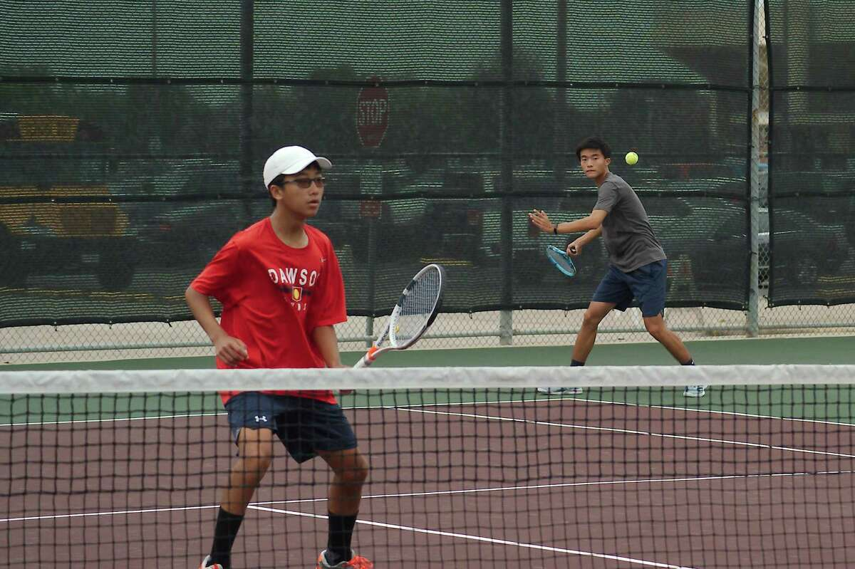 Dawson's Andrew Guan and Edwin Ling fell in a Class 6A state quarterfinal doubles match Thursday to The Woodlands team of Emilio Lopez and Jose Perez, 6-2, 6-1.