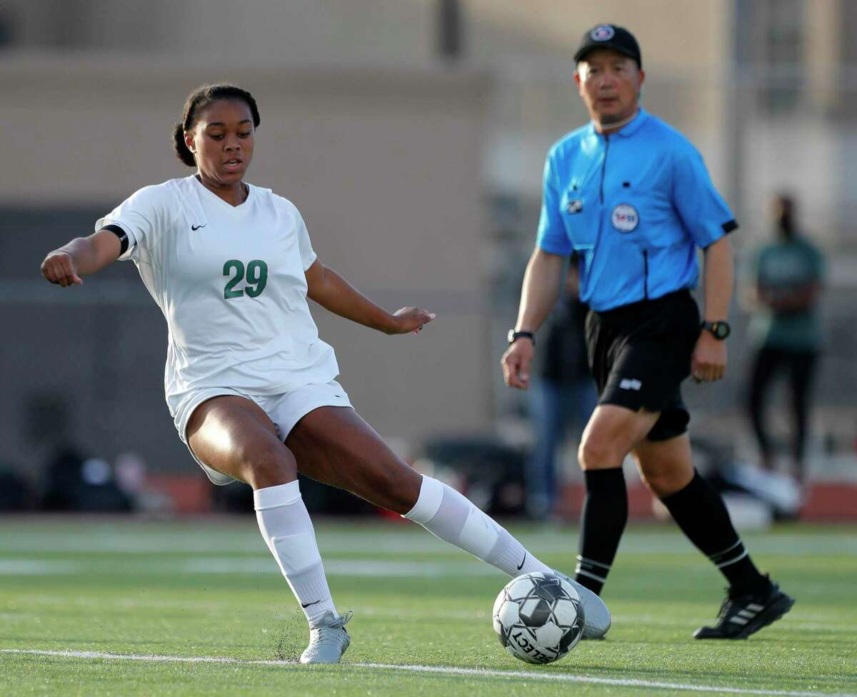 The Woodlands' Samone Knight (29) was a Second Team All-State selection in Class 6A by the Texas Association of Soccer Coaches.