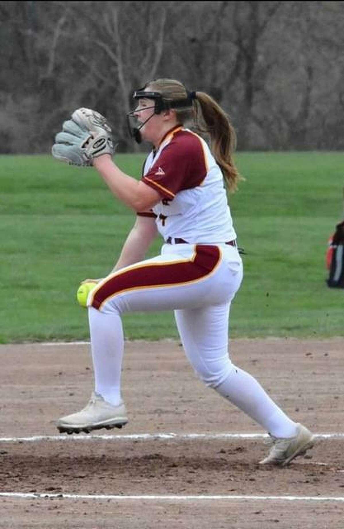 St. Joseph junior pitcher Lauren Wasikowski.