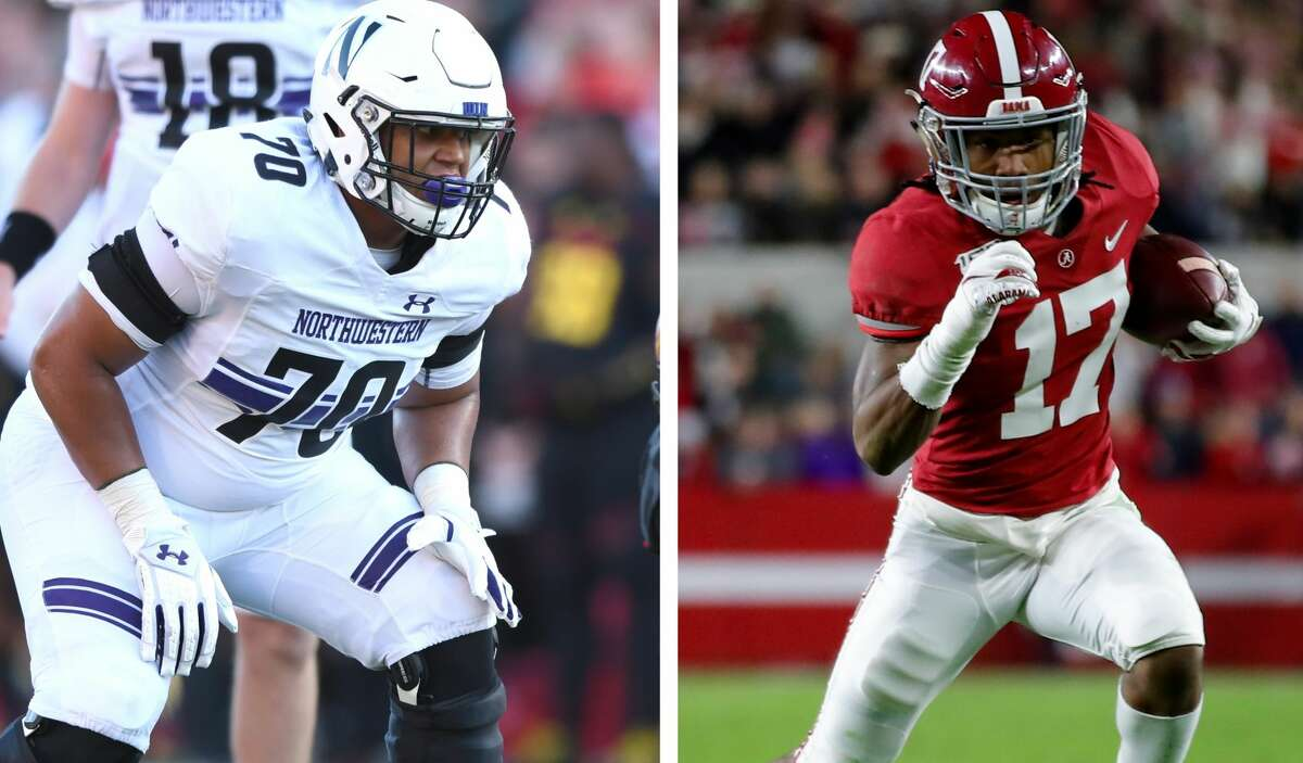Northwestern's Rashawn Slater and Alabama's Jaylen Waddle will both be first-round picks in Thursday's NFL Draft.