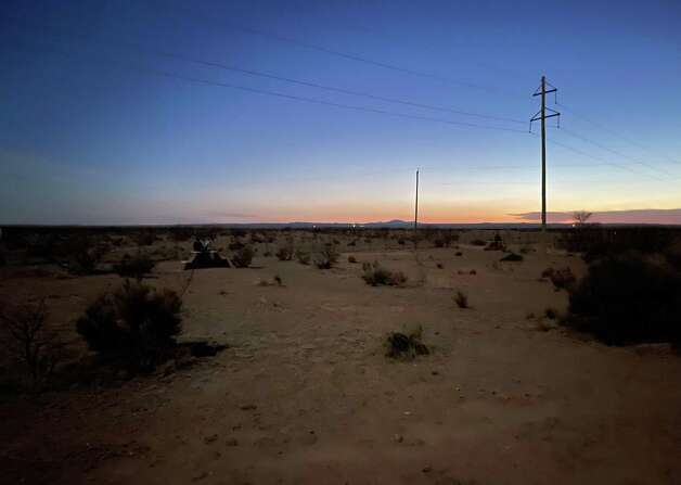 The Marfa Lights can be seen in the distance on the horizon. They appear about 12 times a year. Don't go expecting the Northern Lights, locals say. They are the size of distant headlights. Photo: Melissa Aguilar/Houston Chronicle
