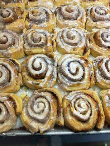 Fresh cinnamon rolls at Judy's Bread & Breakfast in Alpine. Photo: Melissa Aguilar/Houston Chronicle