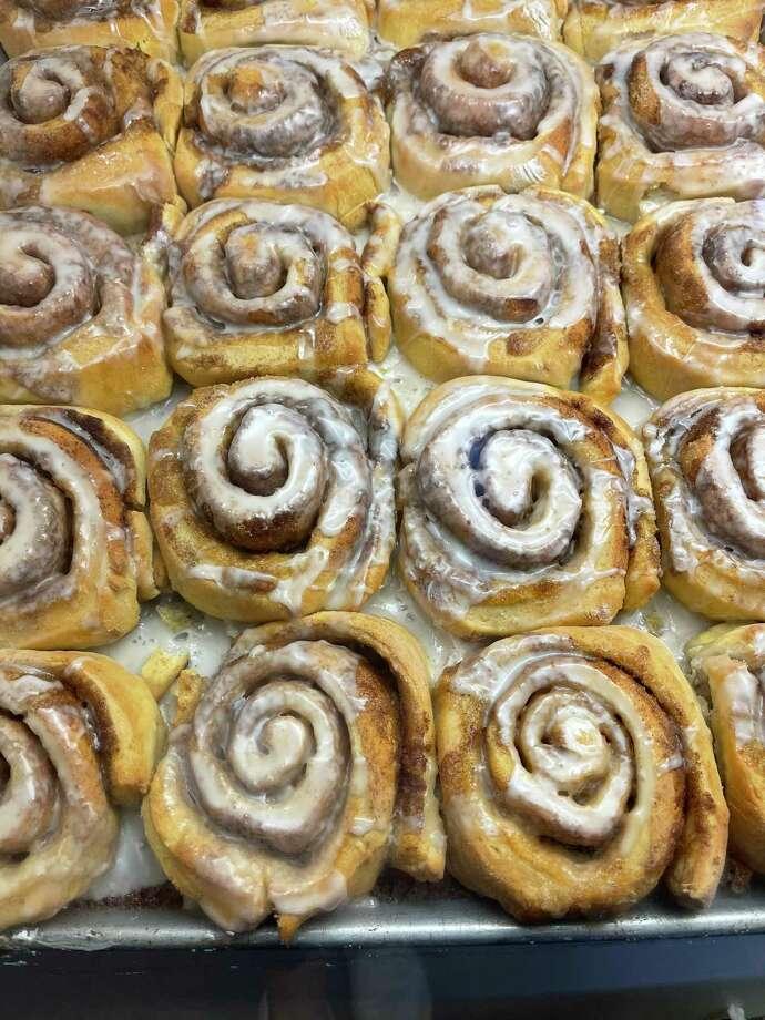 Fresh cinnamon rolls at Judy's Bread & Breakfast in Alpine. Photo: Melissa Aguilar/Houston Chronicle