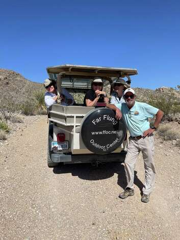 Far Flung Outdoor Center in Terlingua offers Jeep tours of Big Bend Ranch State Park. Guide Randy De La Fuenta takes guests to the abandoned Buena Suerte mine, once a source of cinnabar ore that was refined at the site into mercury. Photo: Melissa Aguilar/Houston Chronicle