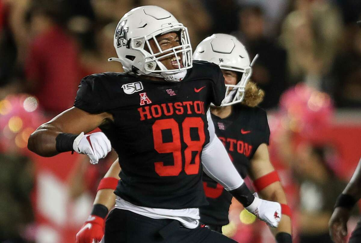 Former UH defensive end Payton Turner hopes to be able to celebrate in the NFL next.