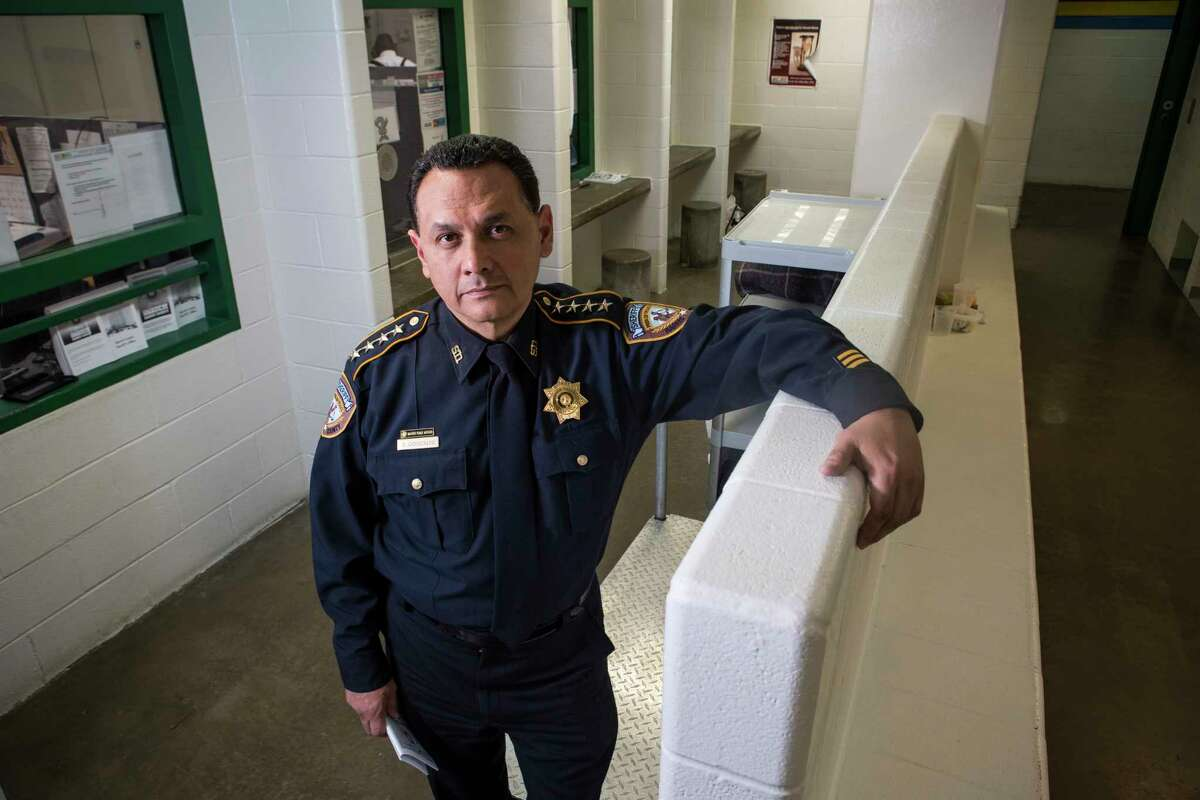 Harris County Sheriff Ed Gonzalez poses for a portrait inside the Harris County Jail on Tuesday, Feb. 21, 2017, in Houston.
