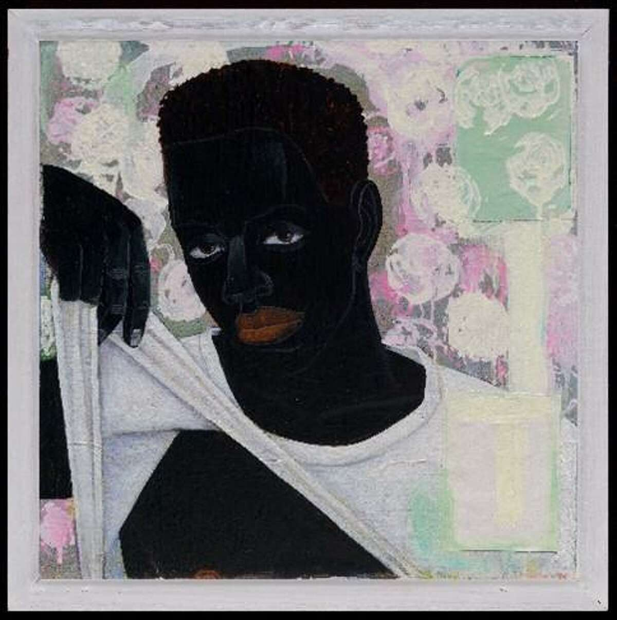Kerry James Marshall (b. 1955), Supermodel, 1994, Acrylic and collage on canvas, Museum of Fine Arts, Boston; The John Axelrod Collection-Frank B. Bemis Fund, Charles H. Bayley Fund, and the Heritage Fund for a Diverse Collection, 2011.1825,