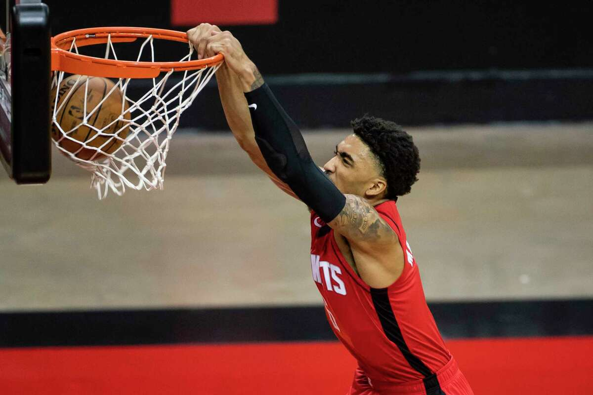 Rockets rookie forward K.J. Martin provided some highlight-reel material at the rim, both dunking and rejecting established NBA opponents.