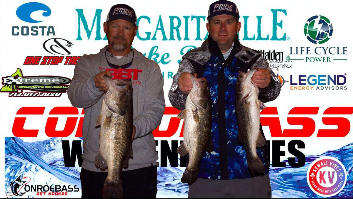 Scott Stephens and Michael Burks won the CONROEBASS Tuesday Tournament with a total weight of 14.07 pounds.