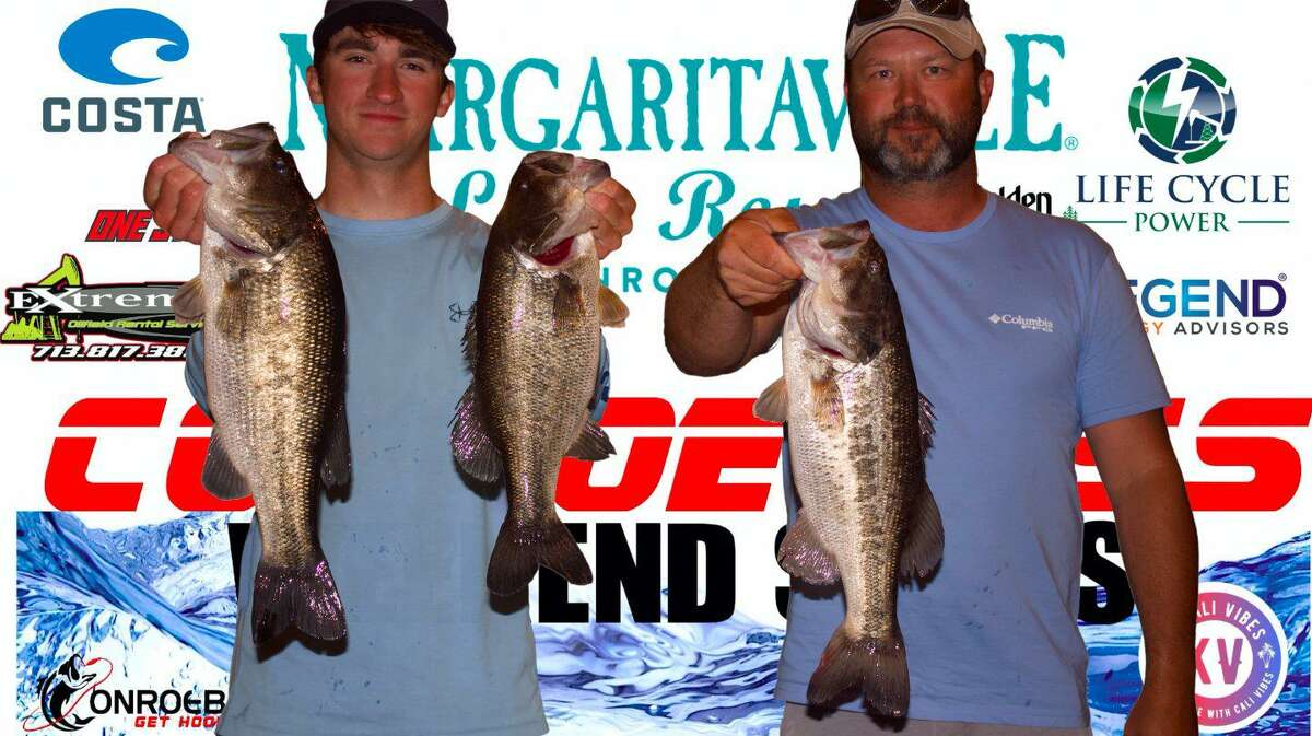 Mason Roach and Greg McCollough claimed second place in the CONROEBASS Tuesday Tournament with a total weight of 11.71 pounds.