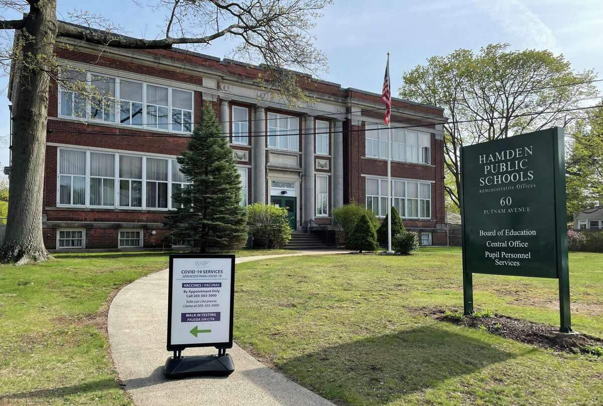 Hamden Public Schools' central offices at 60 Putnam Ave., April 27, 2021
