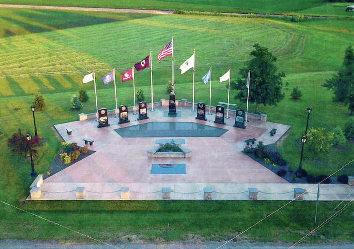 The veterans' memorial in New Berlin was used as an example of a potential design for a memorial that will be built in Carrollton.