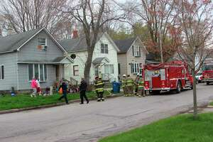 Multiple fire departments responded to a report of aresidential fire at 4:50 p.m. on Tuesday on the 700 block of Ramsdell Street. The fire was contained to the second floor. (Michelle Graves/News Advocate)