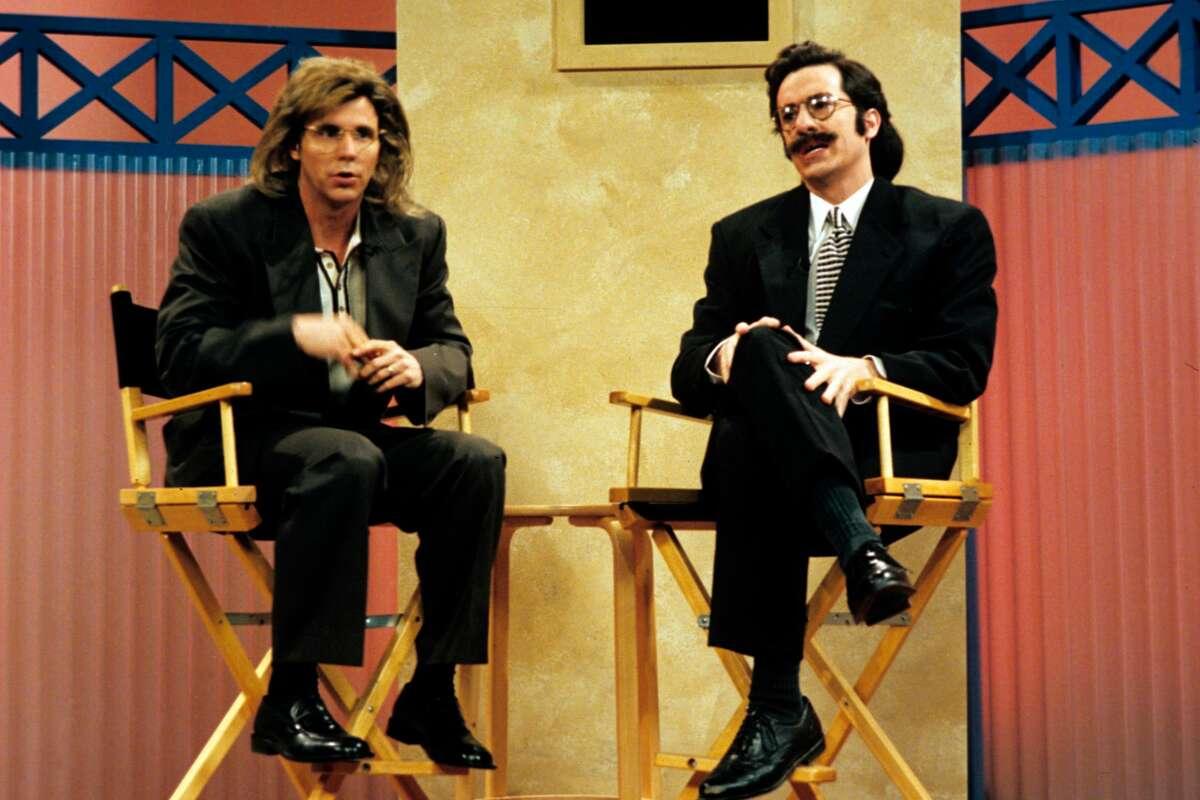 "Dana Carvey and Stephen Colbertin episode four of ""The Dana Carvey Show."""
