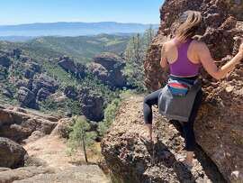 Beautiful view from the High Peaks Trail in Pinnacles National Park.