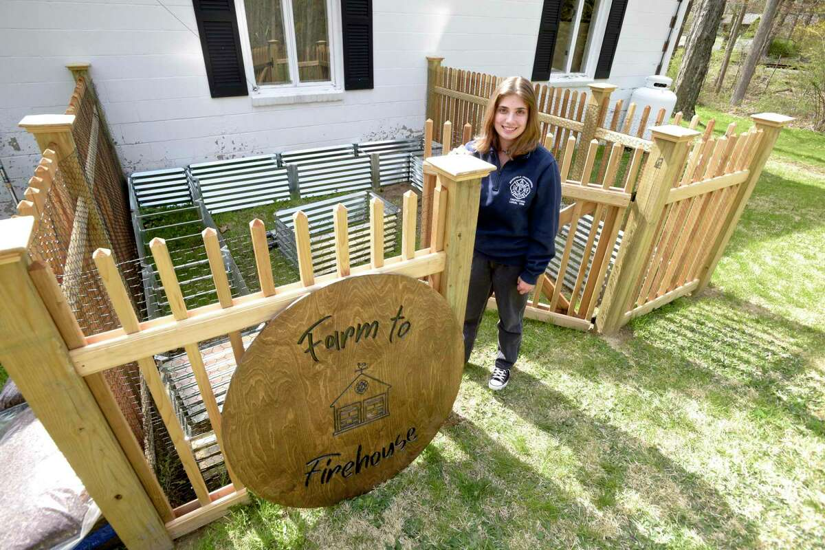 Angelina Cerulli, of Ridgefield, is creating a garden at Station 2 for her Girl Scout Gold Award project.