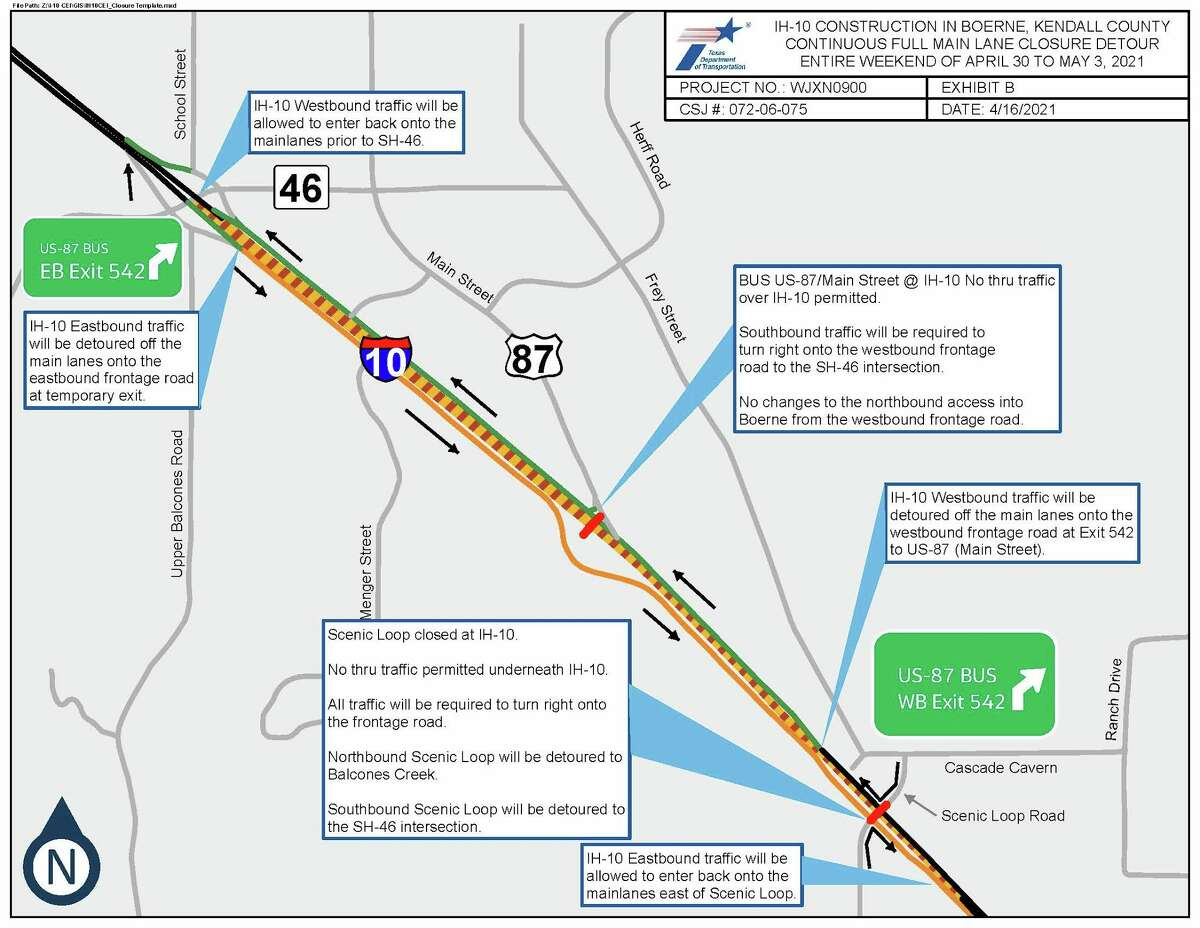 A chunk of I-10 will be closed for the weekend.