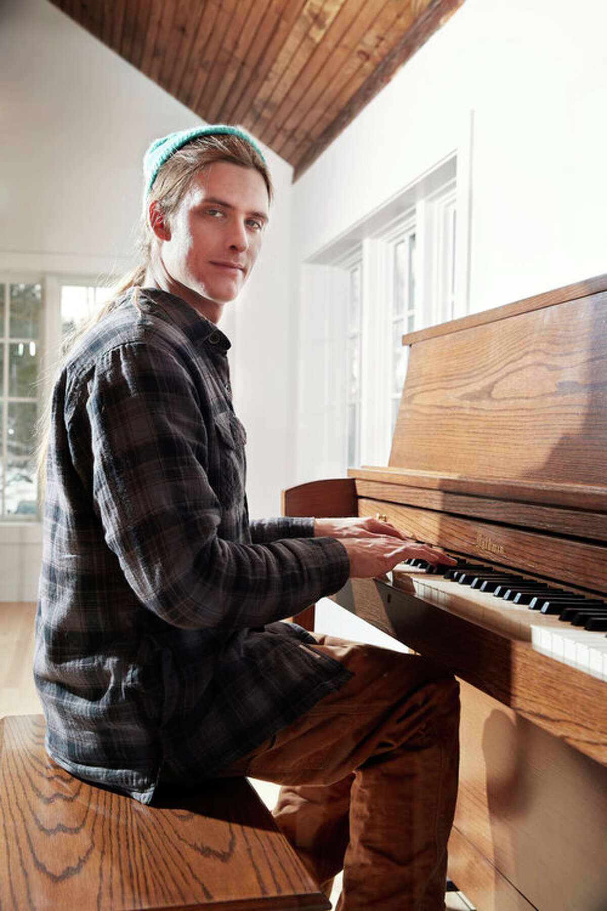 Benjamin Lerner with his piano. (Courtesy of Joshua Sherman Productions)