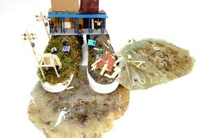 Artists from Bullock Creek High School designed shoes that earned them a spot in the top 50 in the nation for the Vans Custom Culture high school design contest. This design is a tribute to the community resilience following the local dam failures and flooding last May. (Photo provided)