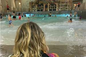 Claire Tisne Haft and her family take refuge at the Great Wolf Lodge just before the start of the pandemic in early March 2020.