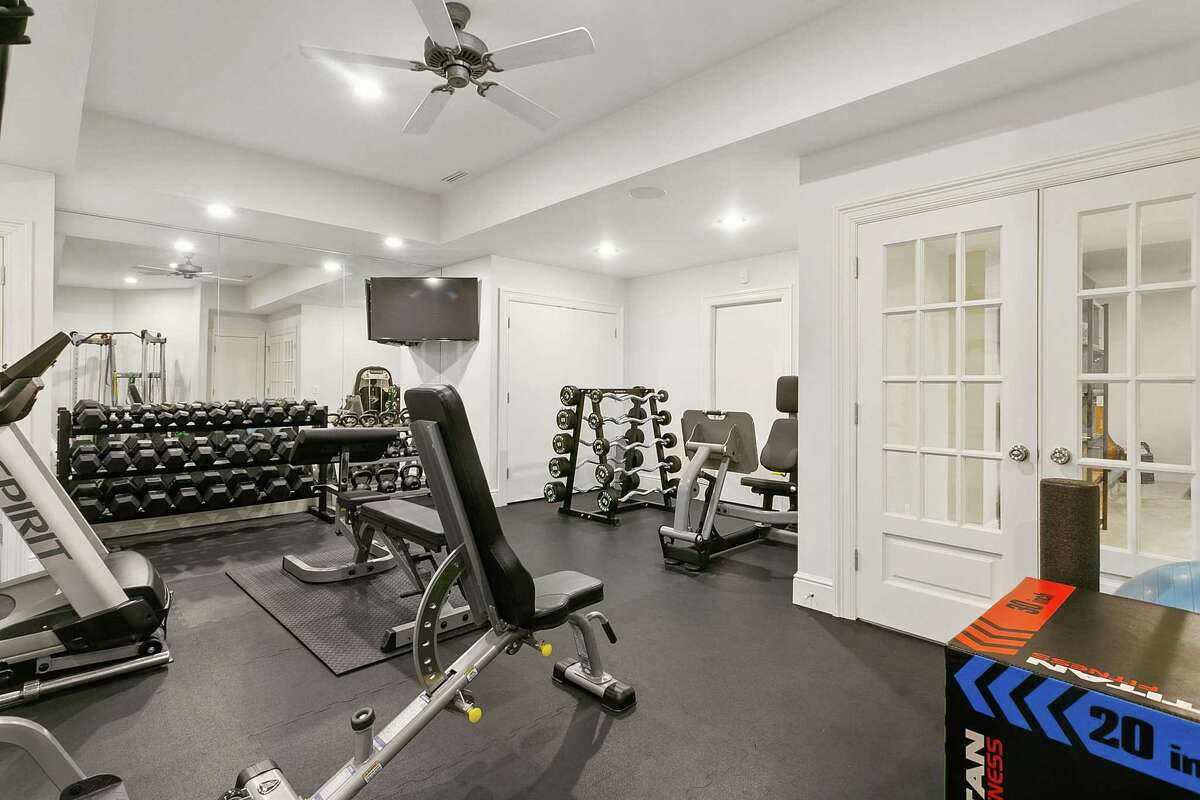 Professional home fitness center at 78 Hillspoint Road, Westport.