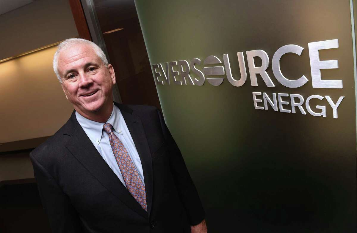 New Eversource Energy CEO Joseph Nolan is photographed at the company's corporate office in Hartford on April 12, 2021.