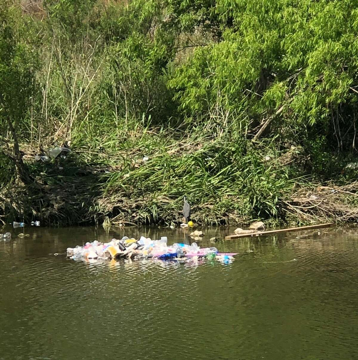 Over the weekend, it rained a bit in the area, leaving the San Antonio River Authority crews to clean up more than 4,200 pounds of trash in the past three days - and they're still going.