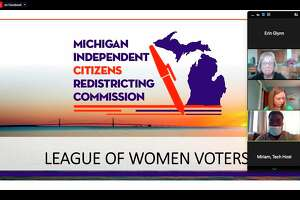 The Manistee News Advocate partnered with the League of Women Voters of Manistee County to host a forum breaking down the statewide redistricting process. (Screenshot/Zoom)