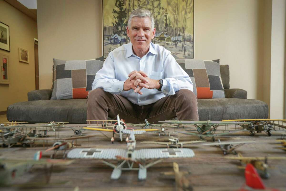 Paul Hobby, CEO and director of Genesis Park Acquisition Corp. and founding partner of Genesis Park private equity firm, Wednesday, March 31, 2021, in Houston.