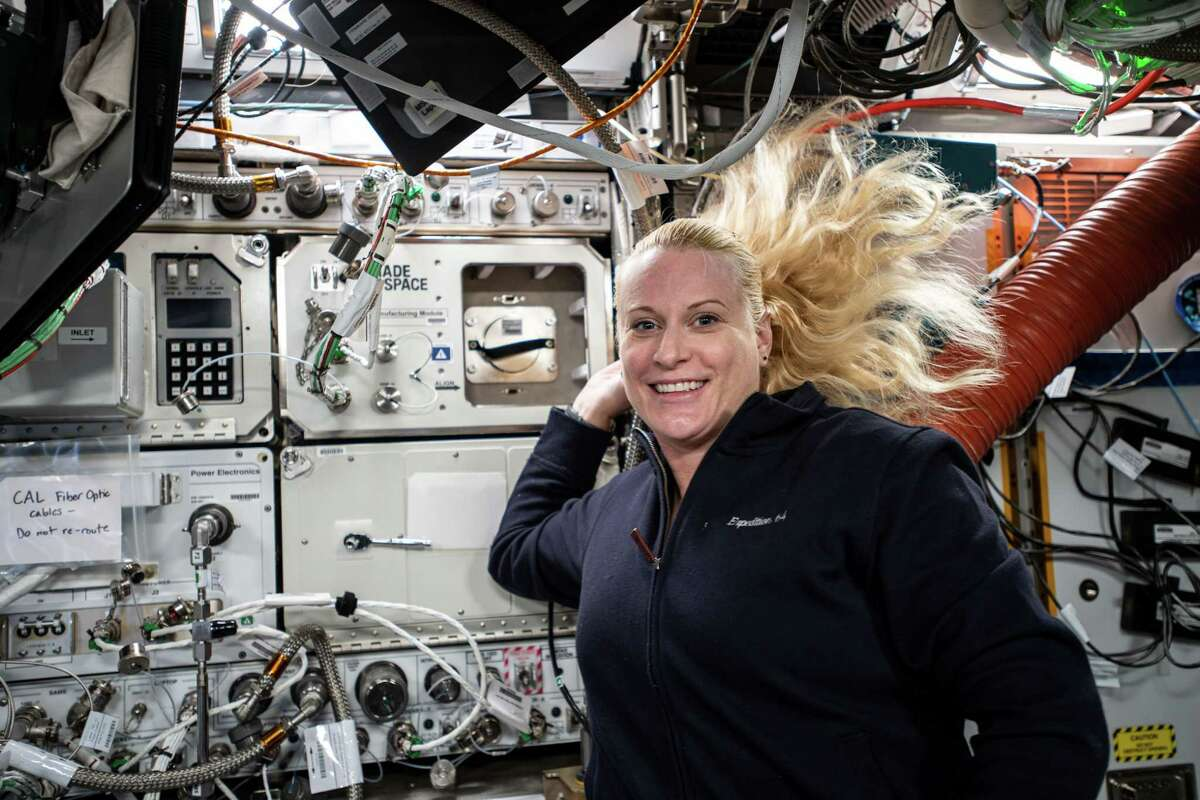 Redwire's Ceramic Manufactuing Machine, pictured here behind NASA astronaut Kate Rubins on the International Space Station, was the first SLA 3D printer in space and successfully demonstrated ceramic additive manufacturing on orbit for the first time in December 2020.