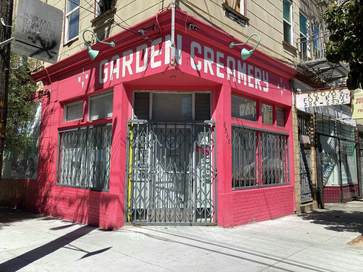 The exterior of Mission District ice cream shop Garden Creamery at 3566 20th St., San Francisco.