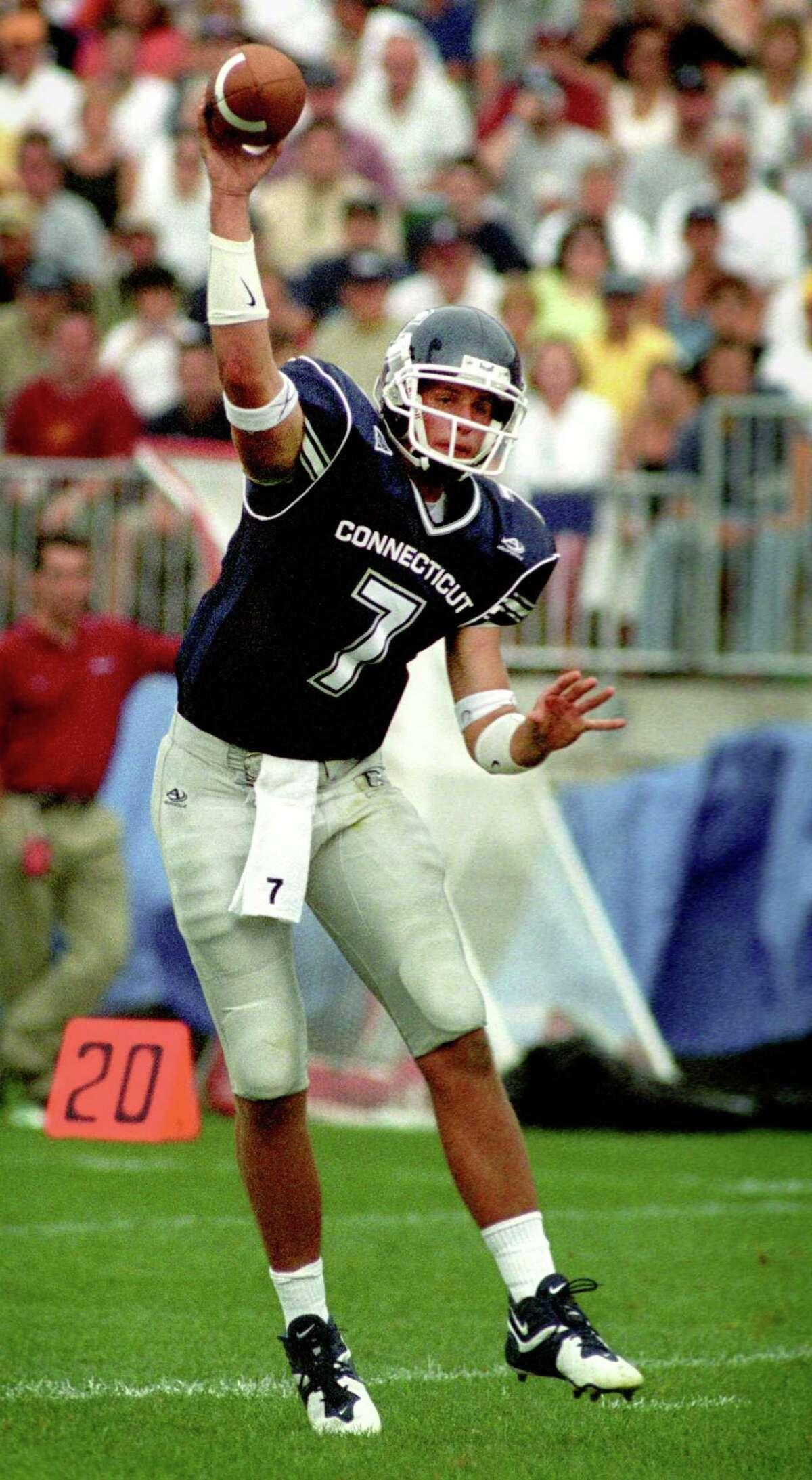 Dan Orlovsky throws a pass against Indiana on Aug. 30, 2003.