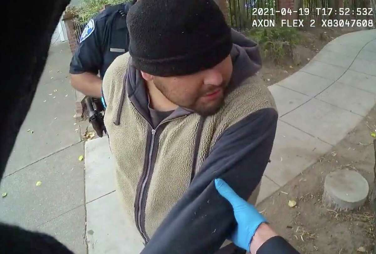 Police body-camera footage shows Gonzalez, who died in Alameda police custody, being restrained by officers.