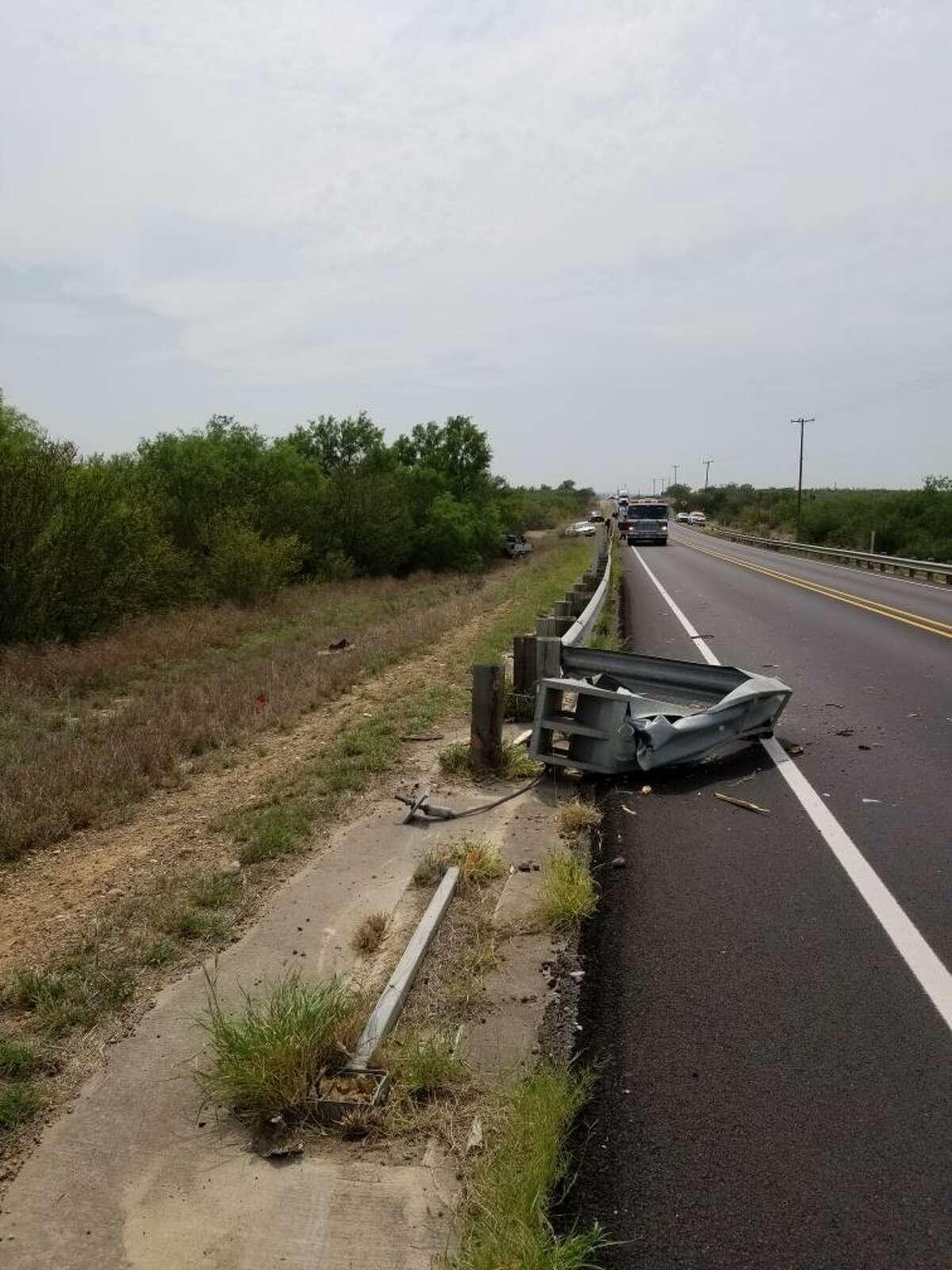A man was taken to Laredo Medical Center in serious condition following a crash in south Laredo.