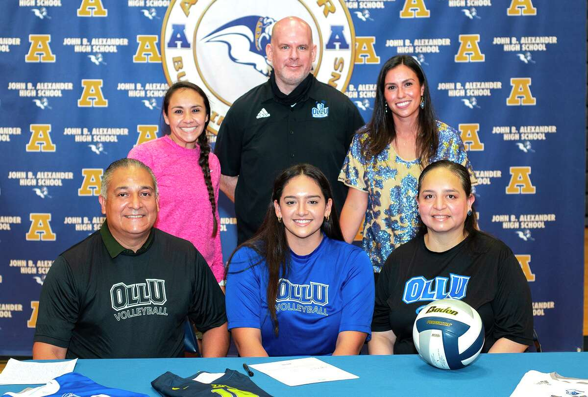 Alexander's Rebekah Bustamante signed with Our Lady of the Lake University on Wednesday.