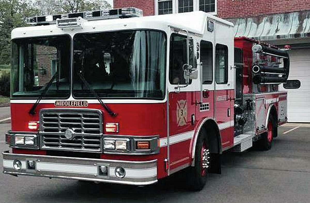 A file photo of a Middlefield, Conn., fire engine.