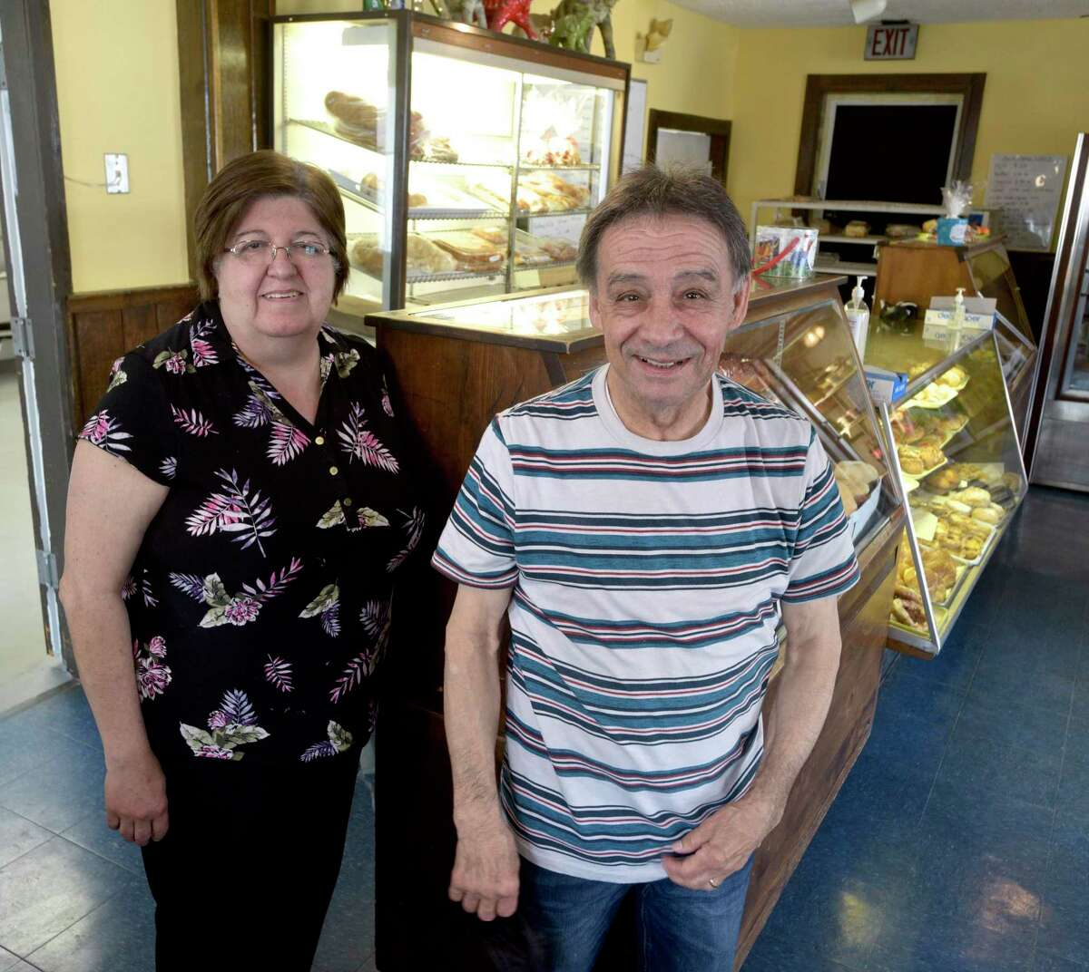 Longtime husband-and-wife owners of Ele-Fant Bakery in Danbury, Conn, are retiring and have sold the business. Linda and Alfredo DoVale owned the bakery that has been in her family for 4 generations and more than 6 decades. Wednesday, April 28, 2021.