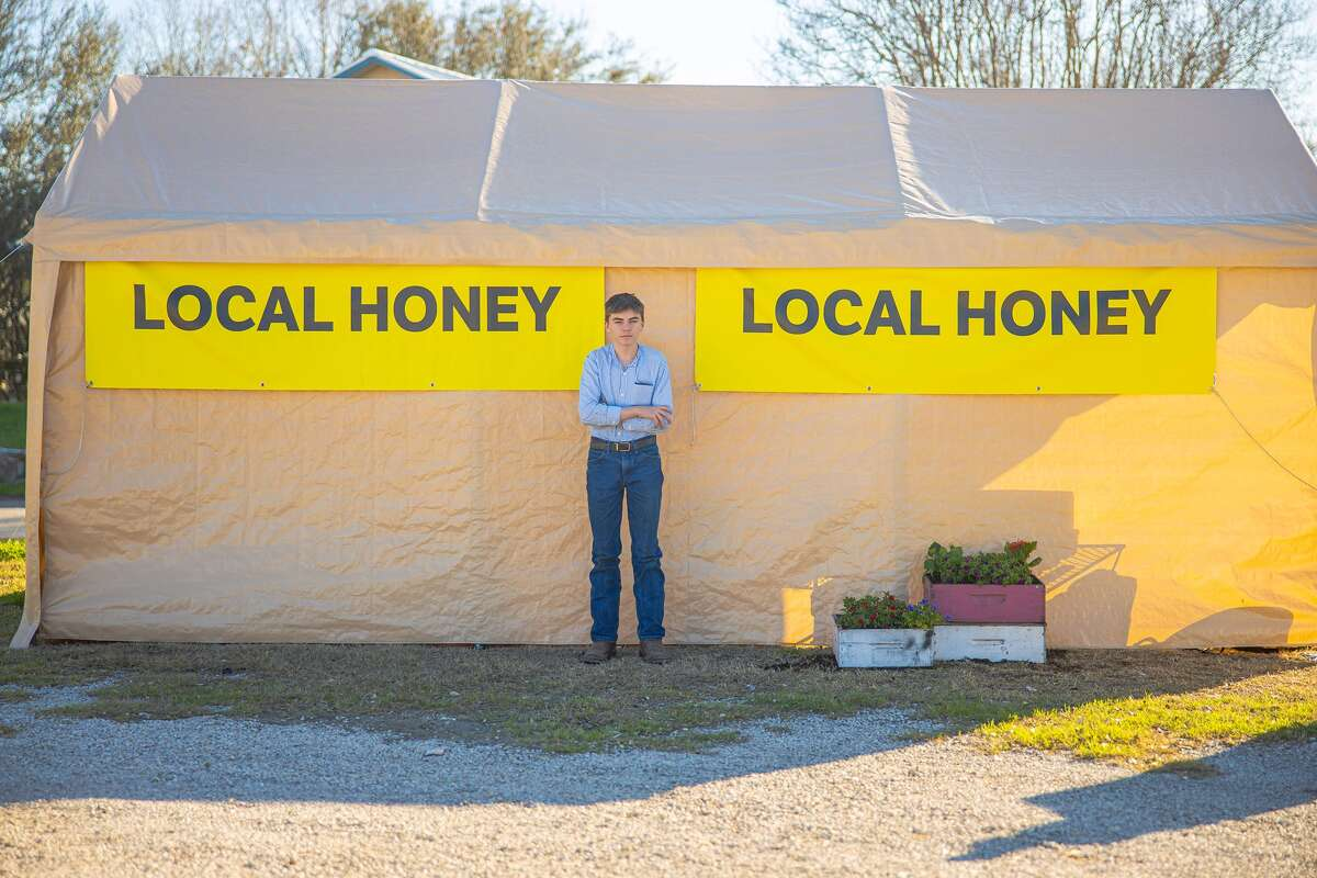 """A young San Antonio entrepreneur is picking up the pieces of his local honey shop after Wednesday night's storms """"shredded"""" the business."""