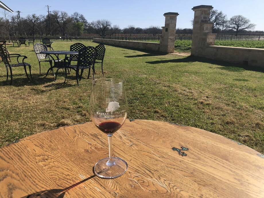 Becker Vineyards' expansive grounds allow for wine tasting with a view or taking a walk among the 50 acres of vines. Photo: Emma Balter