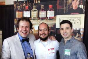 """Gable """"Gabe"""" Erenzo, middle, of Hudson Whiskey suddenly died earlier this week in his sleep at the age of 41 years old. He leaves behind a brand that has achieved nationwide fame."""