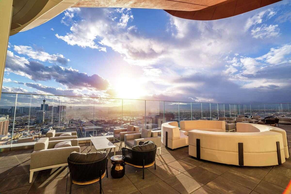 Views from the Legacy Club at the new Circa Resort & Casino Las Vegas.